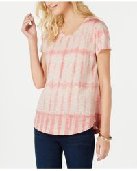 Style & Co. - Cotton Printed Scoop-neck T-shirt, Created For Macy's - Lyst