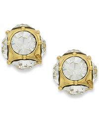 Kate Spade - Earrings, 12k Gold-plated Crystal Stud Earrings - Lyst