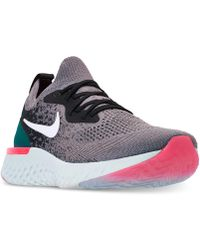 Nike - Epic React Flyknit Running Sneakers From Finish Line - Lyst