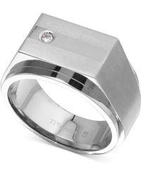 Macy's - Diamond Accent Ring In Titanium - Lyst
