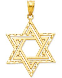 Macy's - 14k Gold Charm, Cut-out Star Of David Charm - Lyst