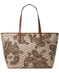 Michael Kors Emry Large Heritage Paisley Tote - Natural