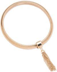 Anne Klein - Tassel Stretch Bracelet - Lyst
