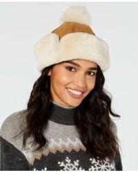 UGG - Flap Shearling Hat - Lyst 503302077a45