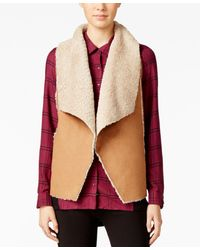 G.H.BASS - Faux-shearling Vest - Lyst