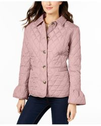 Charter Club - Quilted Bell-sleeve Jacket - Lyst