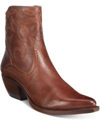 Frye | Women's Shane Western Booties | Lyst