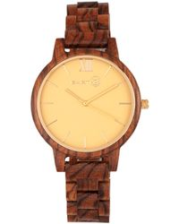 Earth Wood - Pike Wood Bracelet Watch Olive 45mm - Lyst