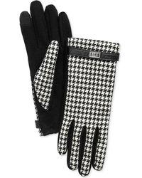 Lauren by Ralph Lauren - Menswear Pattern Metal Logo Tech Gloves - Lyst