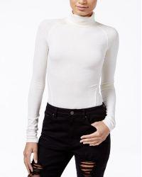 RACHEL Rachel Roy - Ribbed Turtleneck Bodysuit, Only At Macy's - Lyst