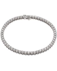 Macy's - Certified Diamond Tennis Bracelet (4 Ct. T.w.) In 14k White Gold - Lyst