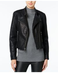 Wildflower - Faux-leather Moto Jacket, Only At Macy's - Lyst