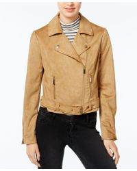 Wildflower - Faux-suede Moto Jacket, Only At Macy's - Lyst