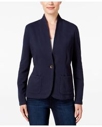Style & Co. - Petite Collarless Blazer, Only At Macy's - Lyst
