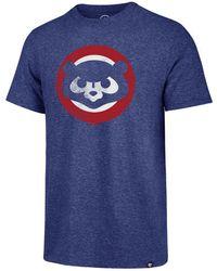 47 Brand - Chicago Cubs Coop Triblend Match T-shirt - Lyst