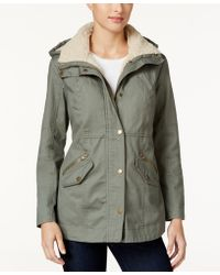 Style & Co. - . Sherpa-collar Anorak Jacket, Only At Macy's - Lyst