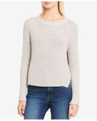 Calvin Klein Jeans | High-low Metallic-detail Sweater | Lyst