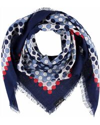 Fraas - Dotted Blocks Square Scarf - Lyst