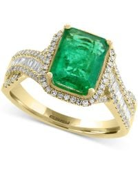 Effy Collection - Emerald (2-1/5 Ct. T.w.) And Diamond (1/2 Ct. T.w.) Ring In 14k Gold - Lyst