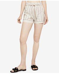 BCBGeneration - Herringbone Stripe Paperbag Shorts - Lyst