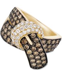 Le Vian - Chocolate Diamond (2-1/6 Ct. T.w.) And White Diamond (3/8 Ct. T.w.) Buckle Ring In 14k Gold - Lyst