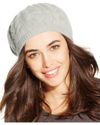 Charter Club - Cashmere Cable Beret - Lyst