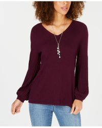 Style & Co. Bishop-sleeve Tunic Jumper, Created For Macy's