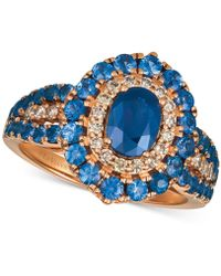 Le Vian - ® Strawberry & Nudetm Blueberry Sapphiretm (2-1/5 Ct. T.w.) & Diamond (1/4 Ct. T.w.) Ring In 14k Rose Gold - Lyst