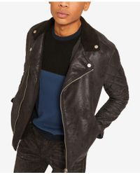 1dde023a3 Men's Armani Exchange Leather jackets Online Sale - Lyst