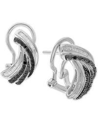 Macy's - Diamond Twist Drop Earrings (1/2 Ct. T.w.) In Sterling Silver - Lyst