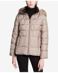 CALVIN KLEIN 205W39NYC - Faux-fur-trimmed Hooded Puffer Coat - Lyst