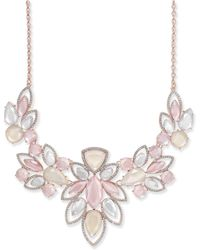 "INC International Concepts - I.n.c. Rose Gold-tone Pavé & Pink Stone Statement Necklace, 18"" + 3"" Extender, Created For Macy's - Lyst"