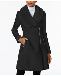 INC International Concepts | Faux-fur-trim Asymmetrical Walker Coat | Lyst
