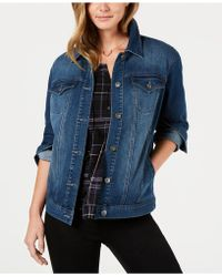 Style & Co. - Denim Trucker Jacket, Created For Macy's - Lyst