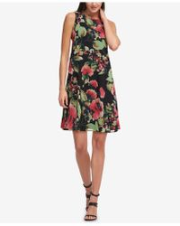 DKNY - Floral-print Trapeze Dress, Created For Macy's - Lyst