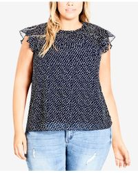 City Chic - Trendy Plus Size Smocked Top - Lyst