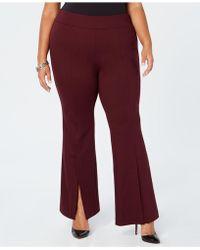 INC International Concepts - I.n.c. Plus Size Ponté-knit Slit-front Pants, Created For Macy's - Lyst
