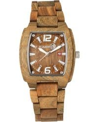 Earth Wood - Sagano Wood Bracelet Watch W/date Olive 42mm - Lyst
