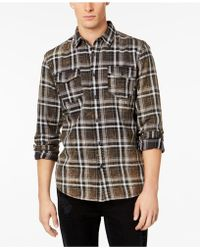 American Rag - Distressed Plaid Shirt, Created For Macy's - Lyst