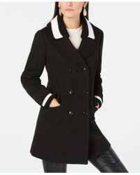 INC International Concepts - I.n.c. Varsity Sweater-trim Peacoat, Created For Macy's - Lyst