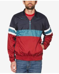 Original Penguin - Colorblocked Quarter-zip Jacket - Lyst