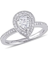 Macy's - Certified Diamond (5/8 Ct. T.w.) Pear-shape Halo Engagement Ring In 14k White Gold - Lyst