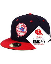 quality design 4d725 2c234 KTZ - New York Yankees Retro Stock 59fifty Fitted Cap - Lyst