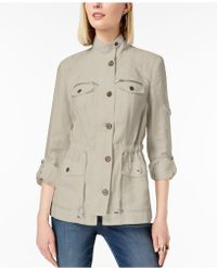 INC International Concepts | Linen Utility Jacket | Lyst
