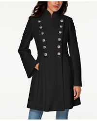 Guess - Double-breasted Skirted Coat - Lyst
