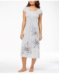Alfani | Floral-print Ruched-waist Nightgown | Lyst