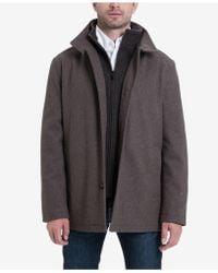London Fog - Men's Wool-blend Layered Car Coat - Lyst