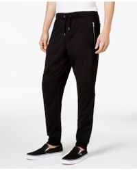 INC International Concepts Men's Moto Knit Jogger Trousers