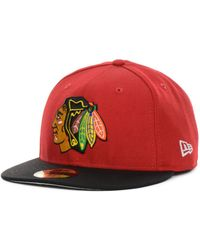 KTZ - Chicago Blackhawks Basic 59fifty Cap - Lyst