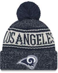 buy online 8e95c d4ea6 KTZ - Los Angeles Rams Sport Knit Hat - Lyst
